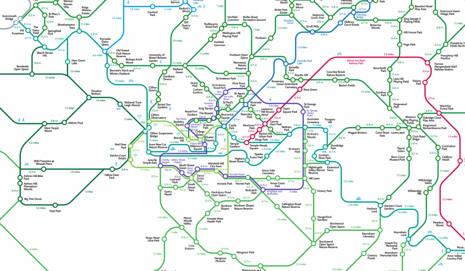 This London Underground-Style Map Shows You All The Best Green Spaces In Bristol