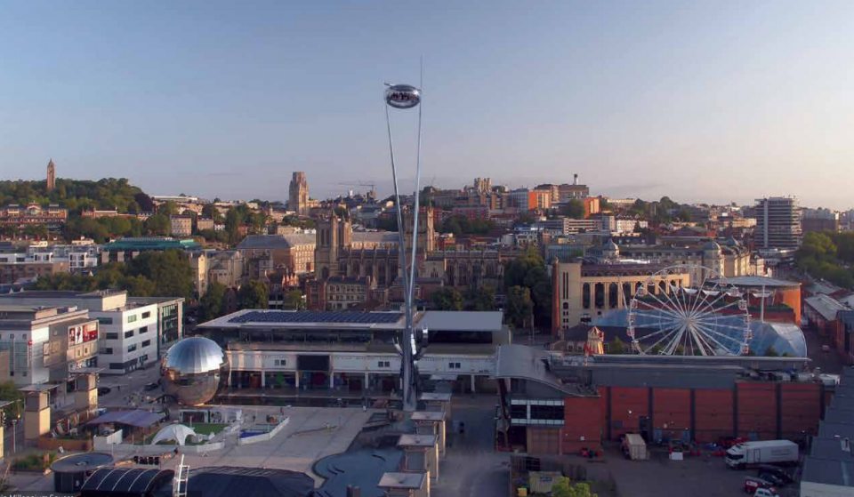 A 79-Metre Viewing Pod Over Bristol Harbourside Could Be Coming To The City