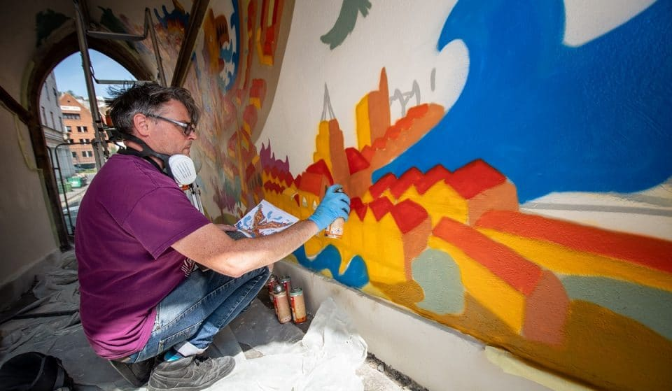 This New Mural By Renowned Bristol Artist Has Appeared In The Old City's Medieval Entrance