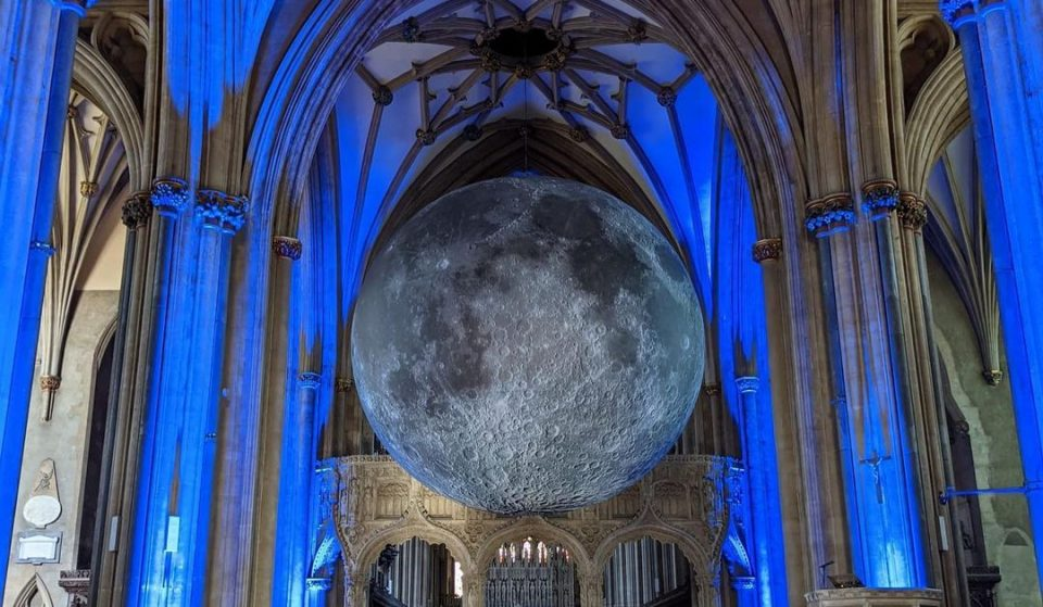 Luke Jerram's Museum Of The Moon Has Arrived At Bristol Cathedral For The Summer