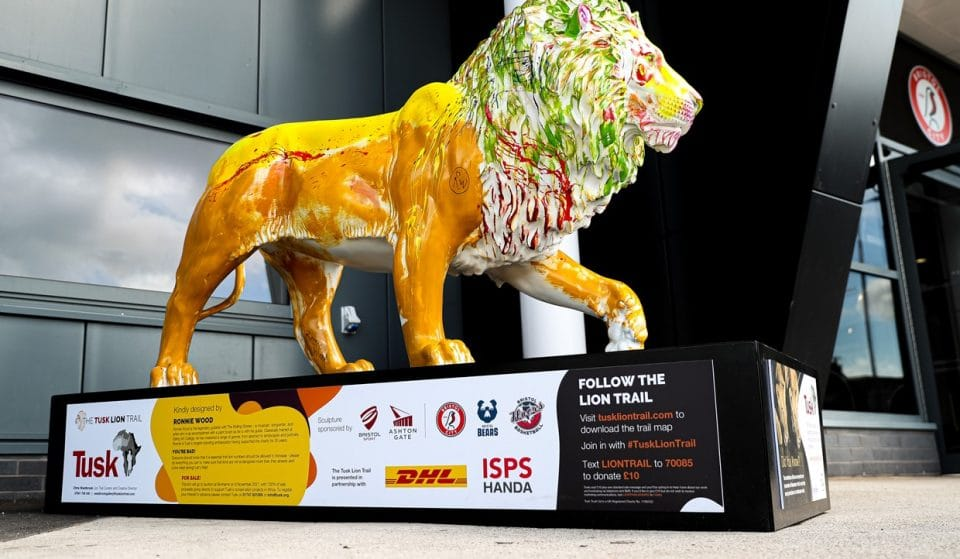A Colourful Lion Has Popped Up At Bristol's Ashton Gate Stadium