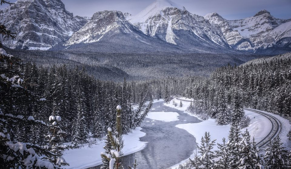 Snow Has Completely Covered Alberta's National Parks And It Looks Magical