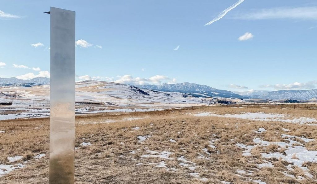 Another Mysterious Monolith Appeared Next To A Highway Outside Of Calgary