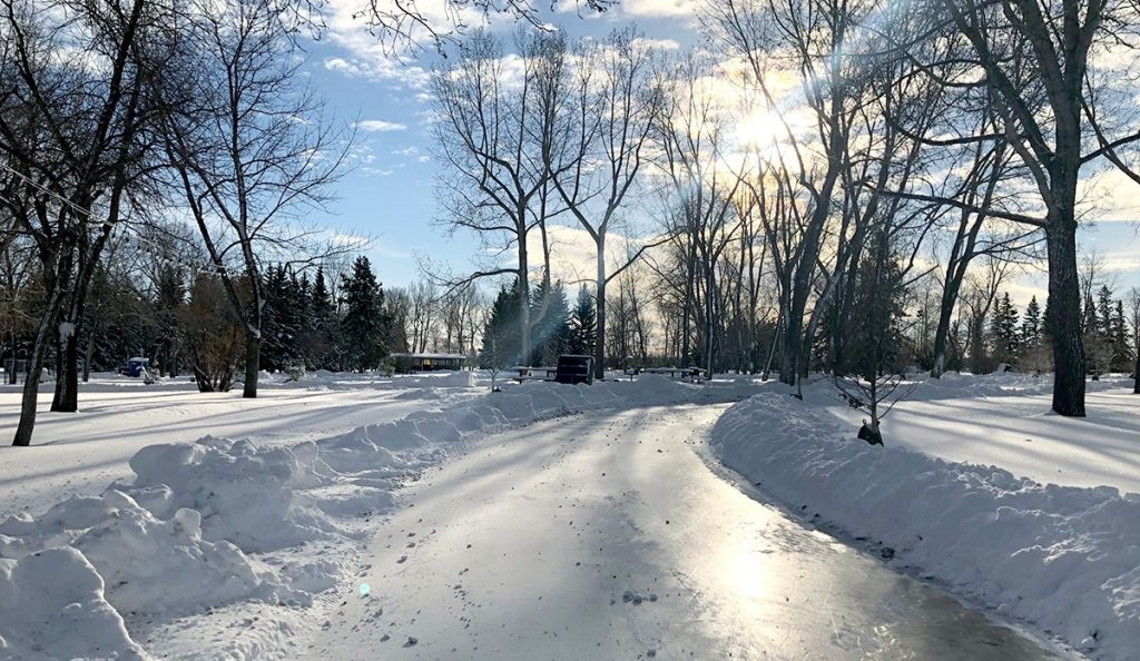 North Glenmore's New 730-Metre Ice Trail Is The Latest Addition To Calgary's Skating Scene