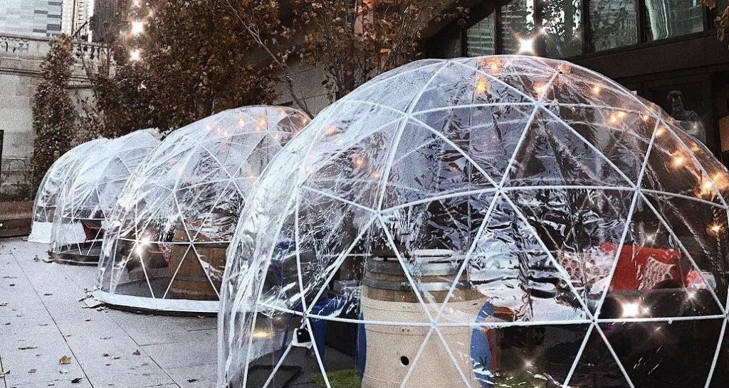 Heated Wine Domes Return to Chicago Riverwalk • City Winery