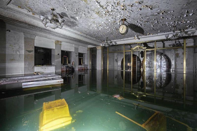 Flooded abandoned basement