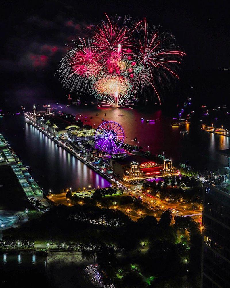 Instagram Photo Chicago Fireworks