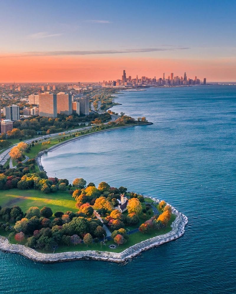 Chicago drone photograph Instagram