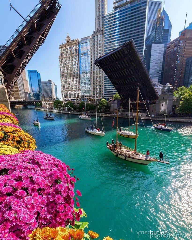 Chicago Fall Bridge Raising