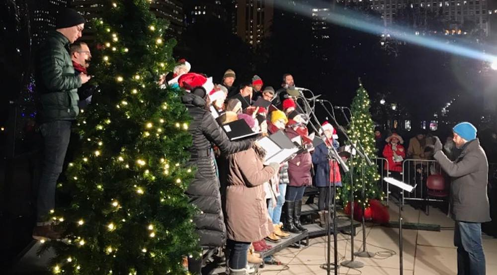 Sing Along At This Christmas Caroling Event In Front Of The Bean