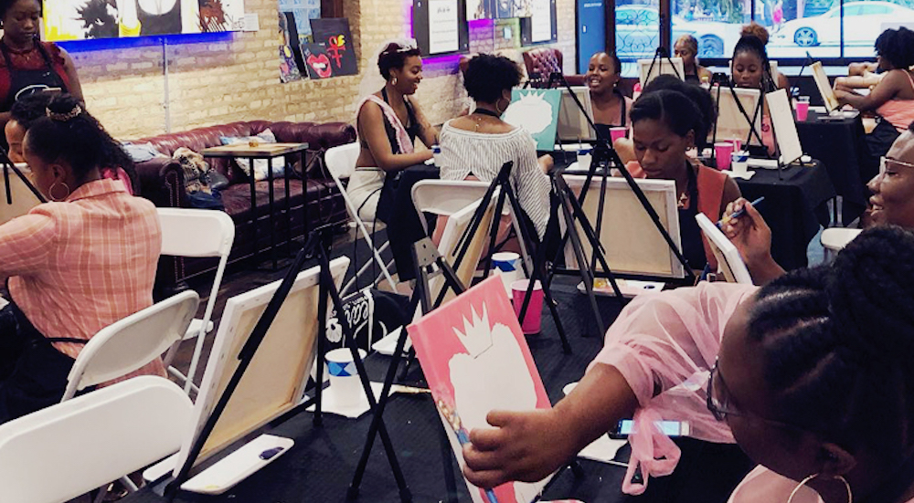 Create A Handmade Gift At This BYOB Holiday Paint & Sip Class • Pearl Paint & Sip