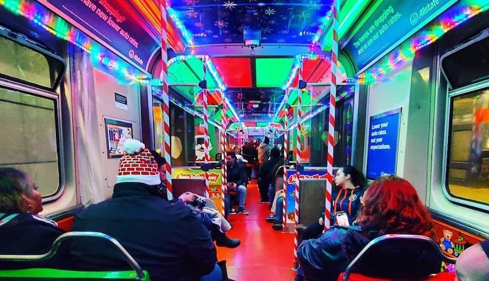 Commute With Santa Via CTA The Holiday Train and Bus Service