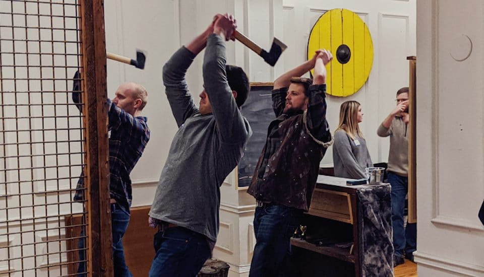 Marvel Fans Can Learn To Fight Like Thor At These Axe Throwing Lessons! • Ragnarok Axe Throwing