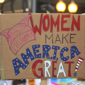women's march protest sign