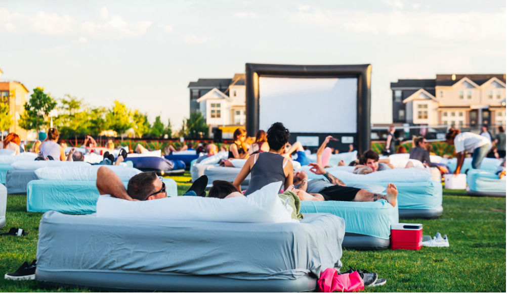 Watch Movies In A Full-Sized Bed At This Outdoor Cinema Coming To Chicago
