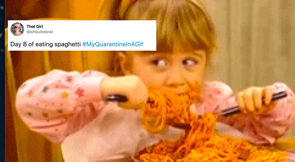 22 People On Twitter Sharing Their Quarantine Experience In One Gif