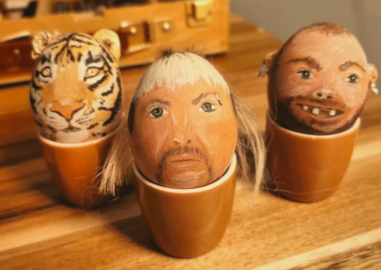 15 Painted Easter Eggs That Prove 'Tiger King' Took Over The Holiday
