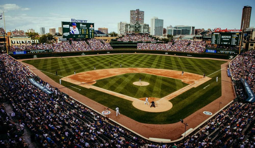 Wrigley Field & Other Chicago Landmarks Will Light Up Blue Tonight For Healthcare Workers