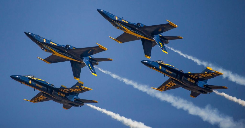 The U.S. Navy Blue Angels Will Fly Over Chicago Tomorrow