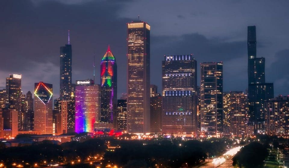 Chicago's Skyline Lit Up In Rainbow Colors Over The Weekend In Honor Of Pride Month