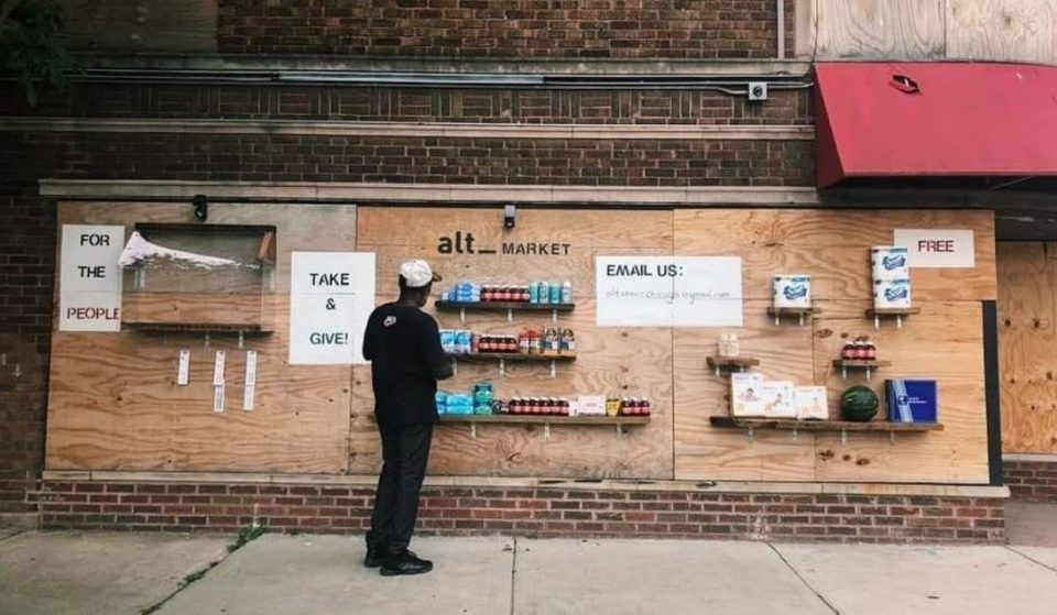 Artists Transform An Abandoned Building On The West Side Into A Free Grocery Store