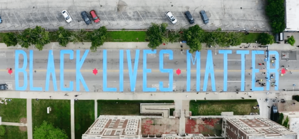 A Massive Chicago-Themed Black Lives Matter Street Mural Has Been Painted In South Shore