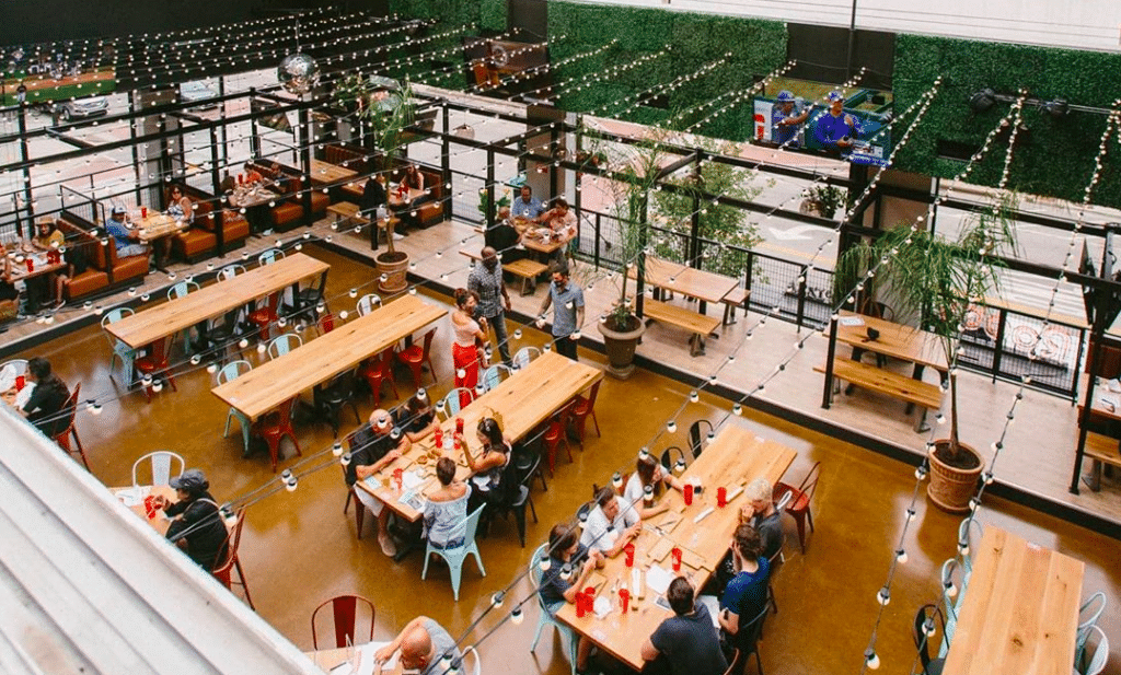 Roots Pizza's New Two-Story Location With Retractable Roof Has Opened In South Loop