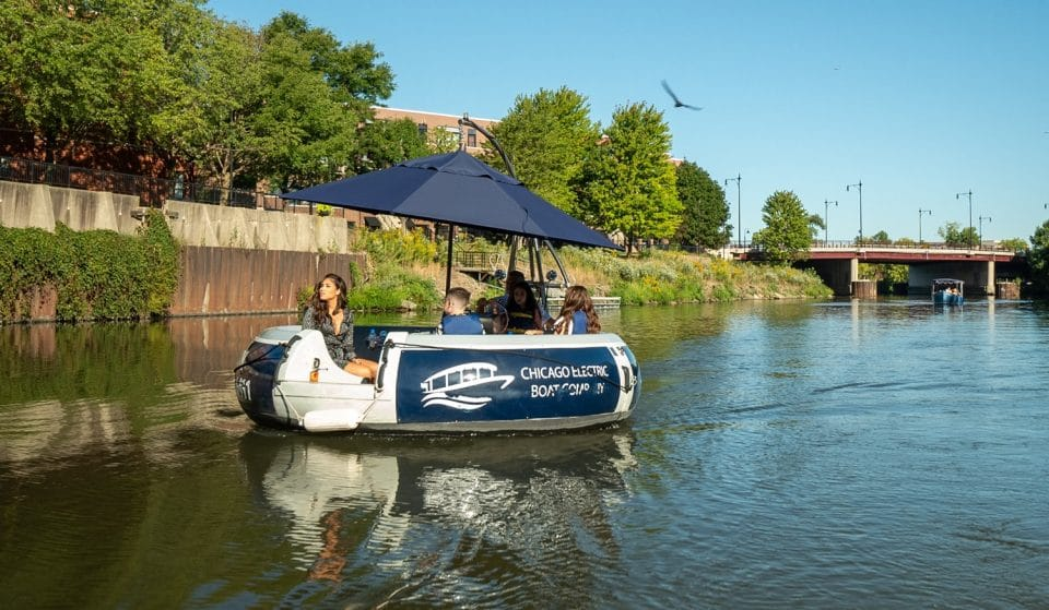 See Out Summer Bobbing Down The Chicago River In An Electric Donut Boat