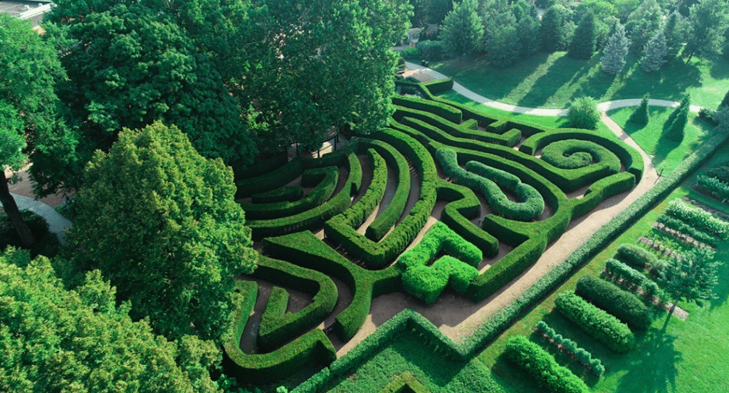 The Maze Garden At The Morton Arboretum Opens To The Public Today