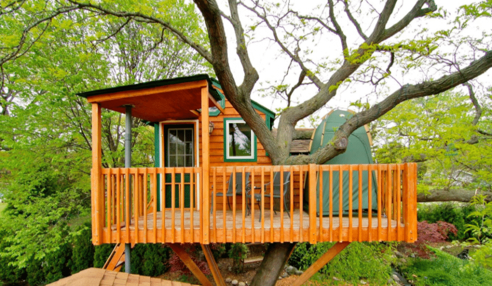 Spend The Night In An Enchanting Garden Tree House In Illinois