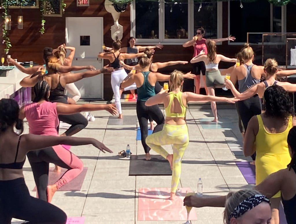 Patio Yoga + Mimosas at OG's
