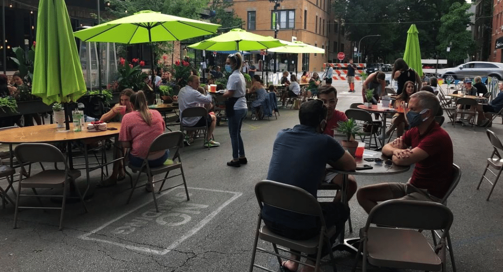 14 Streets Will Be Reserved For Outdoor Dining This Weekend