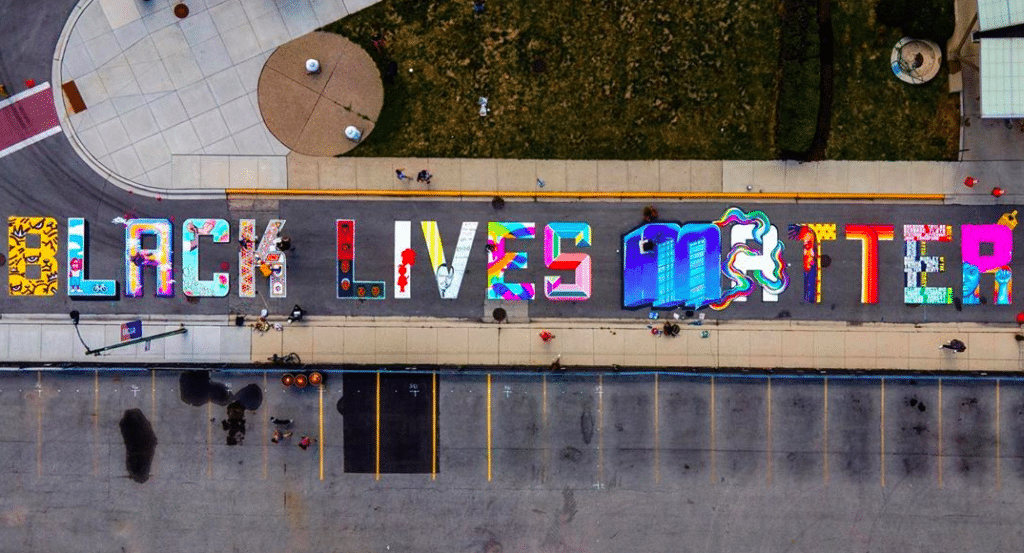 A Massive Black Lives Matter Street Mural Has Been Painted In Uptown