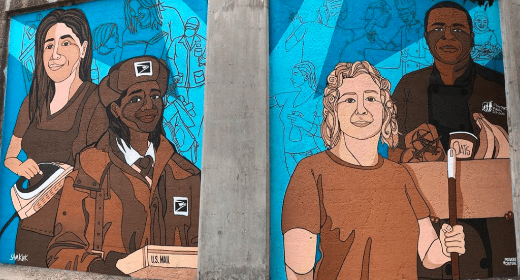 New Mural In Fulton Market Celebrates Essential Workers This Labor Day