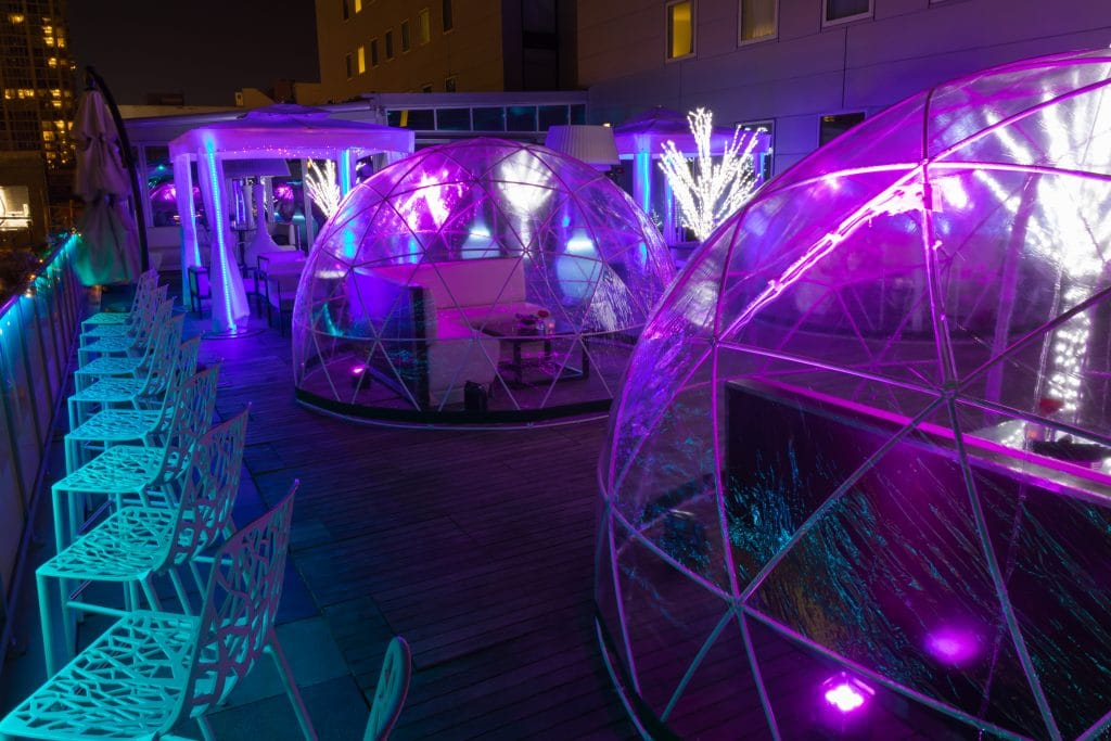 Chicago's Godfrey Hotel Debuting Spooky Igloos On River North Rooftop