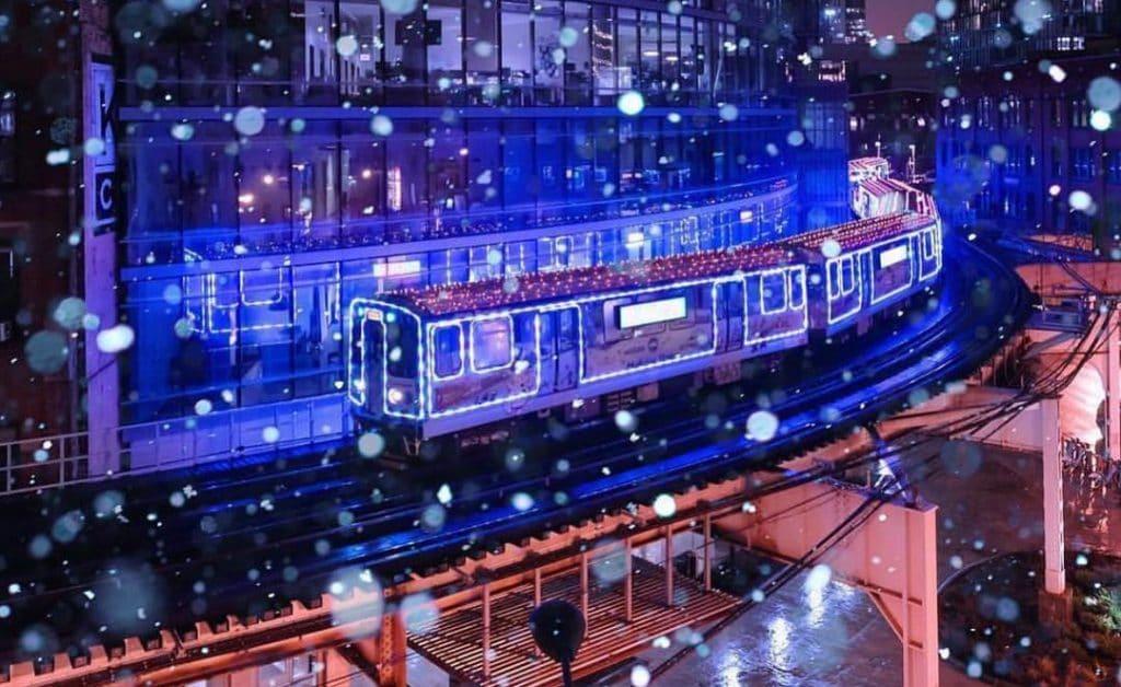 Chicago's Annual Santa-Driven CTA Train Takes To The Tracks Today!
