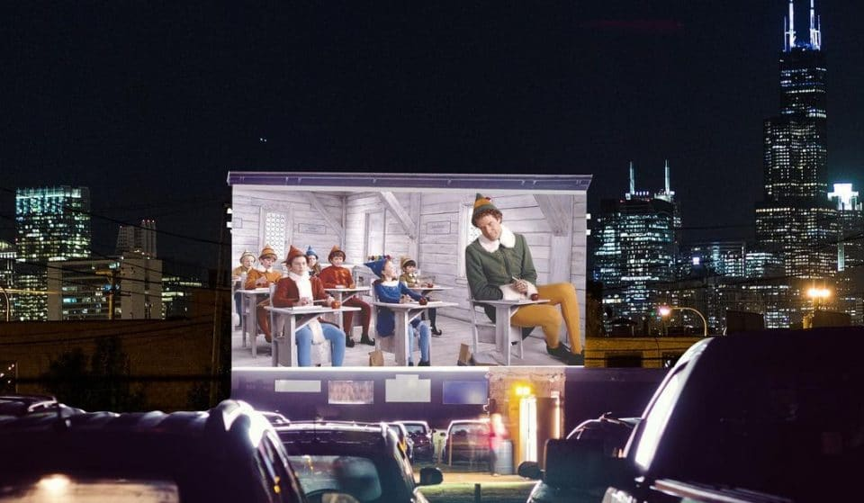 7 Days Of Holiday Classics Are Coming To A Massive Outdoor Screen in Lincoln Yards