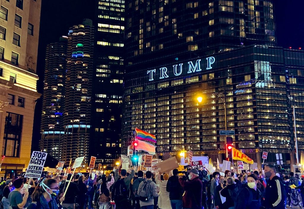 Thousands Marched Through The Loop Last Night To Demand That Every Election Vote Be Counted