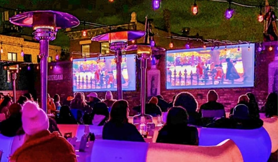Movie Nights On The Whiskey Business Rooftop Offer The Perfect Cozy Winter Evening