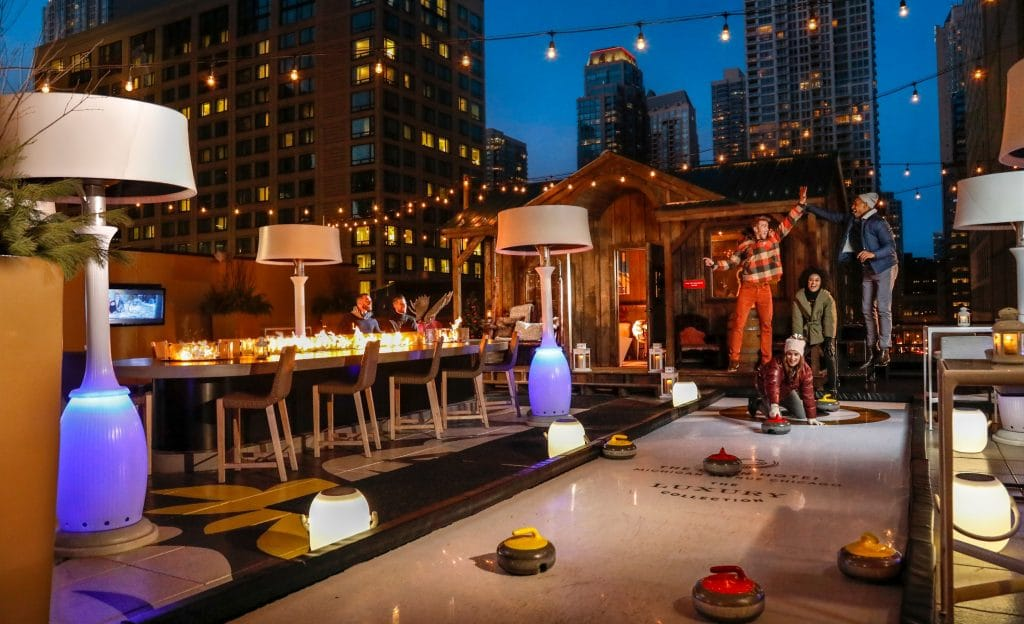 Cool Off With Curling And Cocktails On The Gwen Hotel's Luxury Rooftop