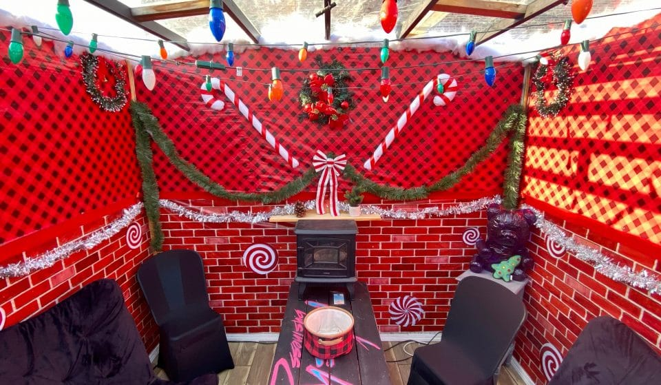 This Cozy Wicker Park Rooftop Has The Cutest Heated Gingerbread Houses