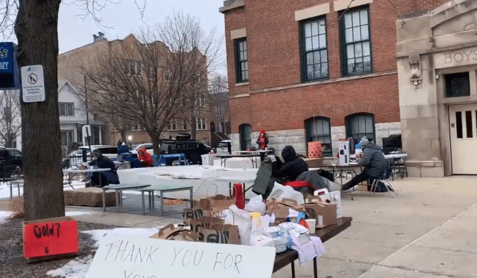 Some Chicago Public Schools Are Working Outside In 27 Degrees Because They Fear For Their Safety