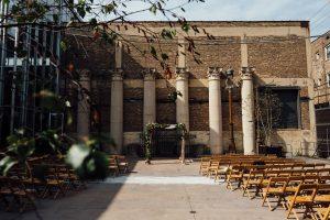 Chicago Wedding Venue: Artifact Events Courtyard