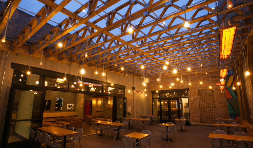 A Stunning New Pilsen Patio With Radiant-Heated Floors And Overhead Heaters Is Opening This Friday