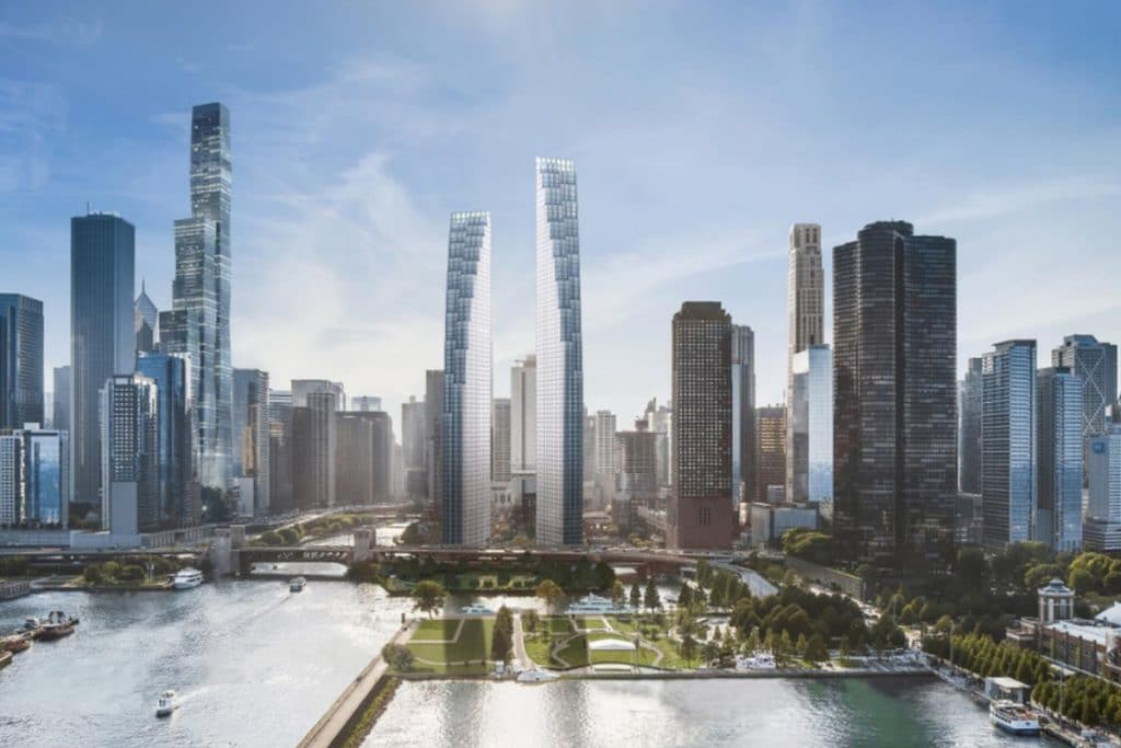 $1 Billion Cascading 'Sister Towers' To Be Built On The Site Of Abandoned Chicago Spire Site This Year