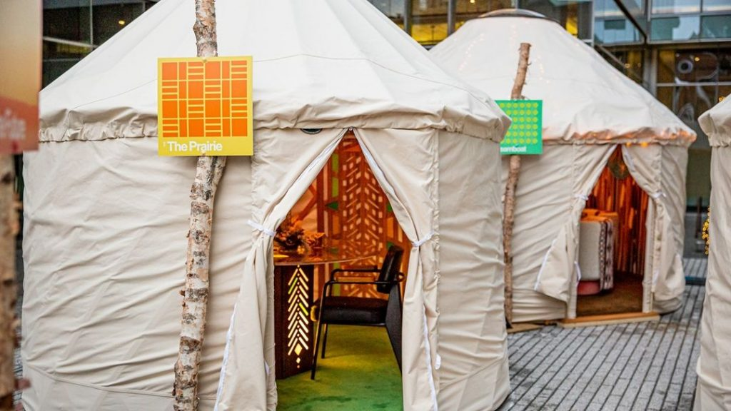 Take A Trip Through Time At This Magical Village Of Decorated Yurts In Fulton Market