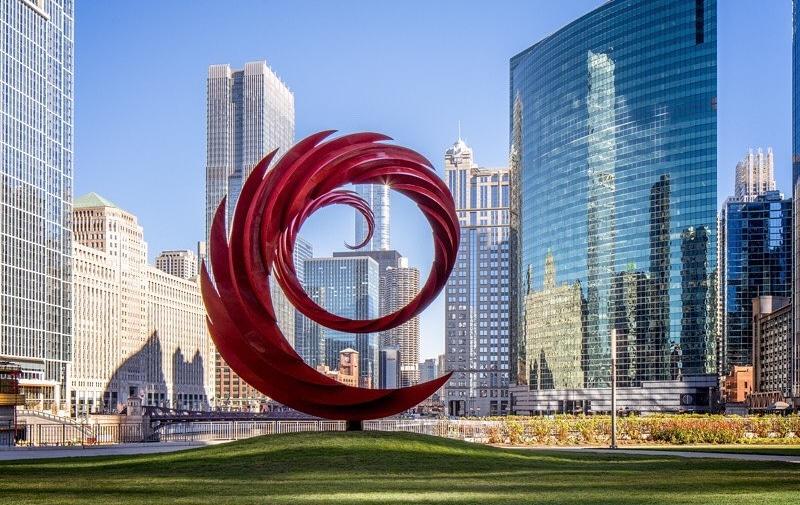 10 Amazing Photos Of Chicago's New Calatrava Sculpture 'The Constellation'