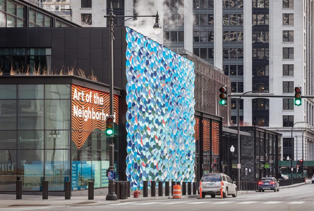 A Mesmerizing Wave Wall Of 1,963 Colorful Tiles Has Appeared In Downtown Chicago
