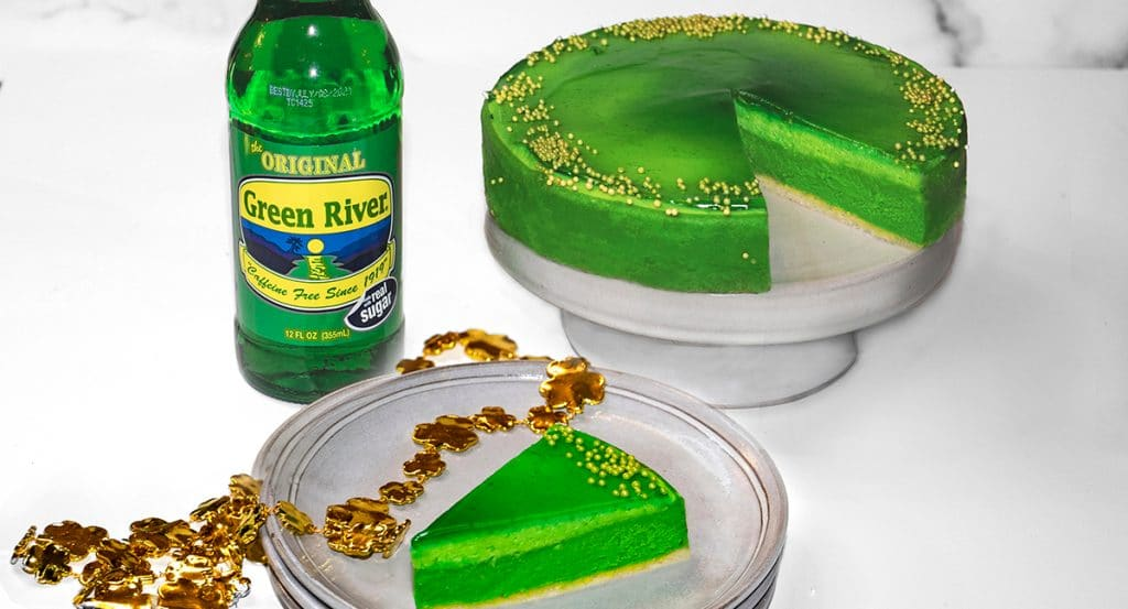 Cherished Chicago Staples Will Unite To Create A Green River-Flavored Cheesecake For St. Patrick's Day