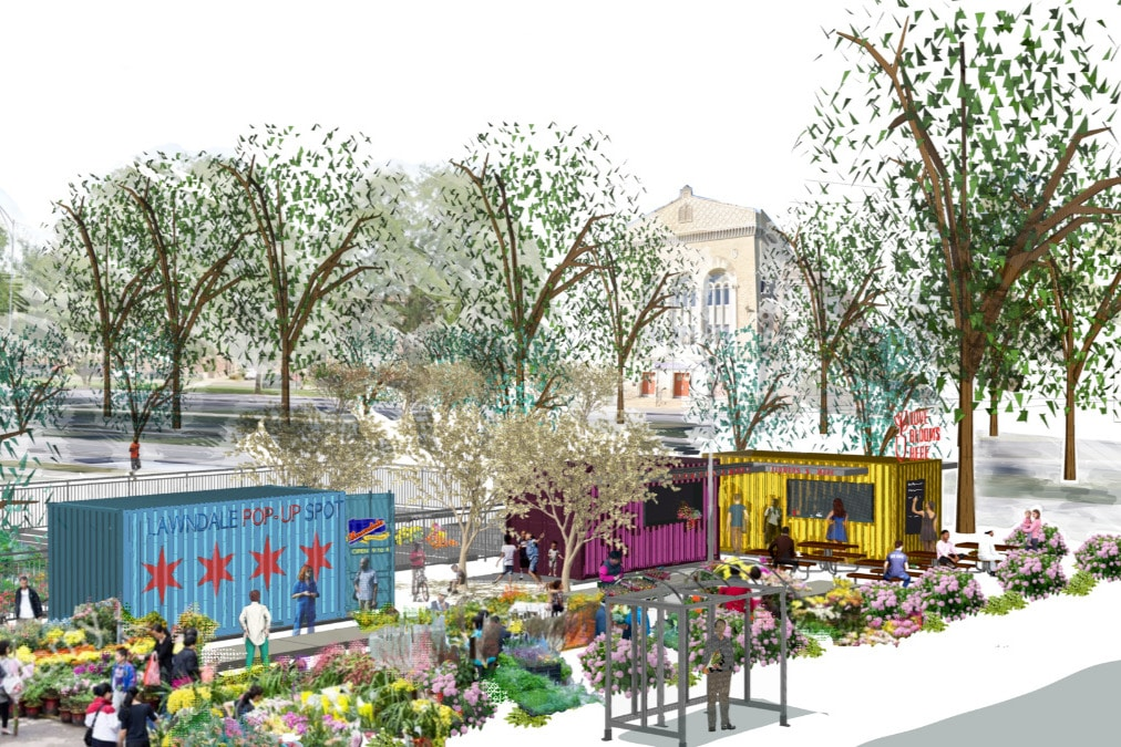 A West Side Plaza Will Become A Communal Gathering Place Made From Customized Shipping Containers